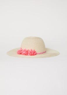 H&M H & M - Glittery Straw Hat - Beige