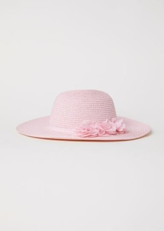 H&M H & M - Glittery Straw Hat - Pink