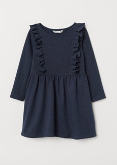H&M H & M - Glittery Sweatshirt Dress - Blue
