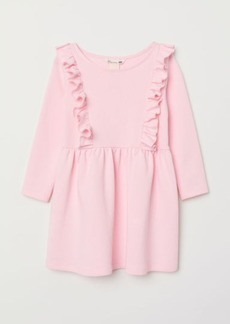 H&M H & M - Glittery Sweatshirt Dress - Pink