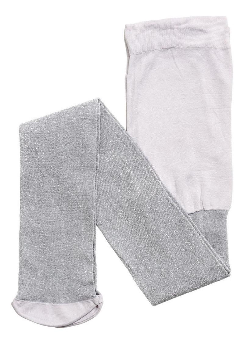 H&M H & M - Glittery Tights - Beige