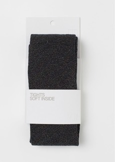 H&M H & M - Glittery Tights - Black