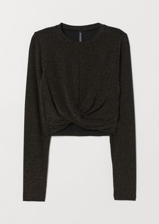 H&M H & M - Glittery Top - Black