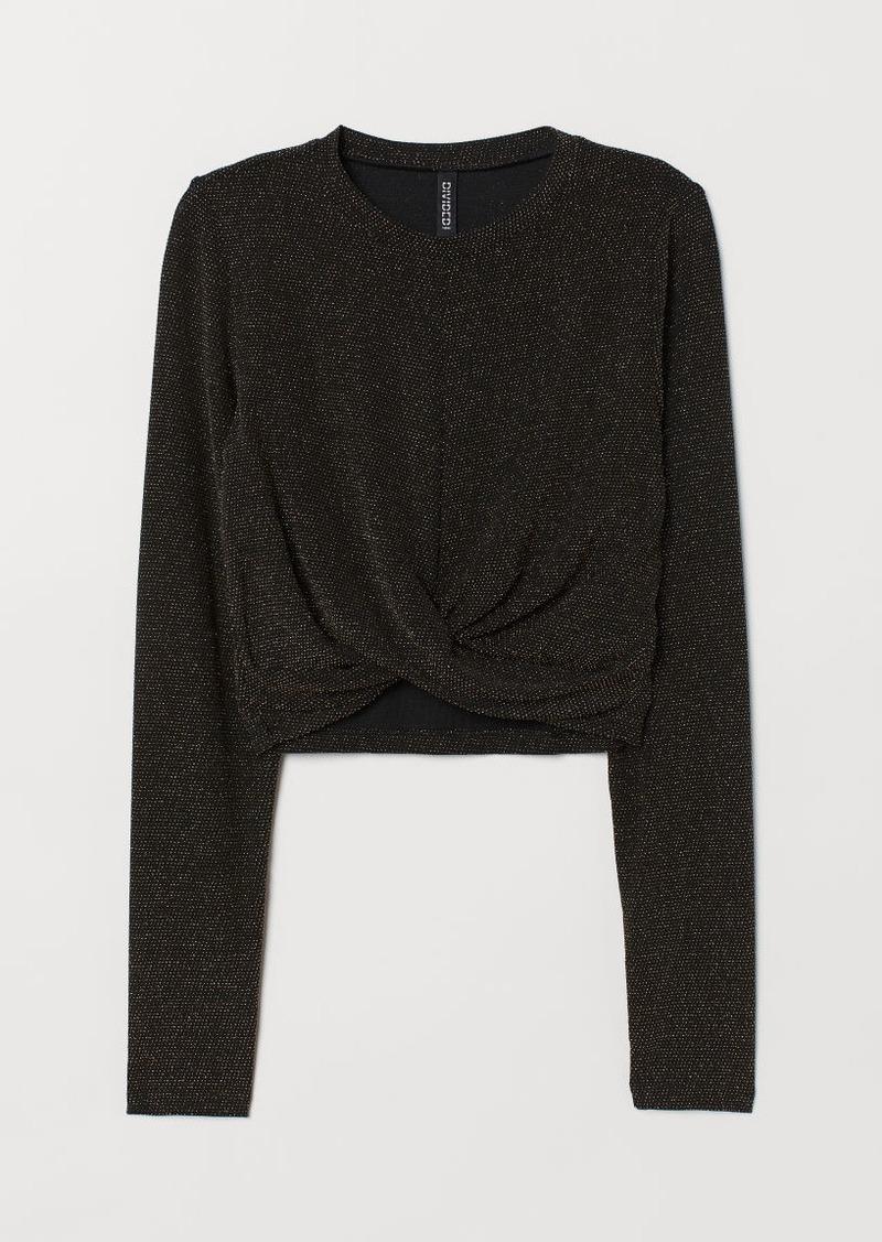 H&M H & M - Glittery Top - Black