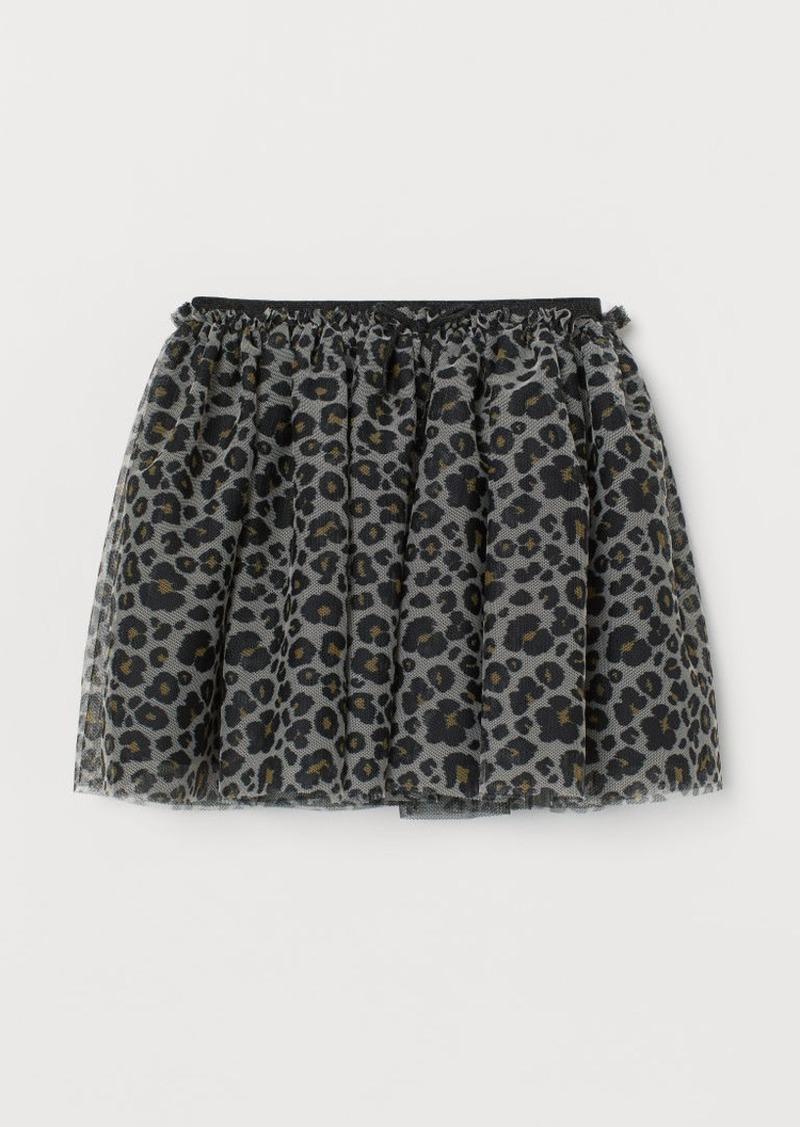 H&M H & M - Glittery Tulle Skirt - Beige