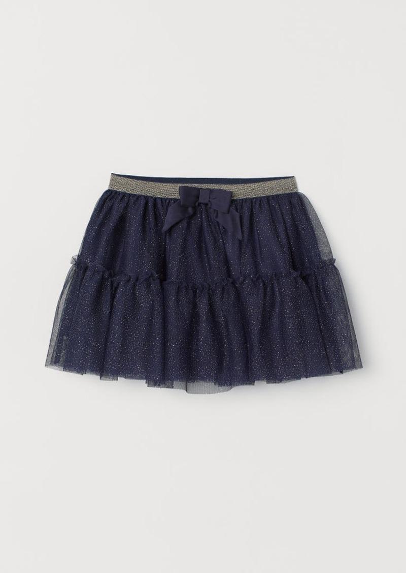 H&M H & M - Glittery Tulle Skirt - Blue