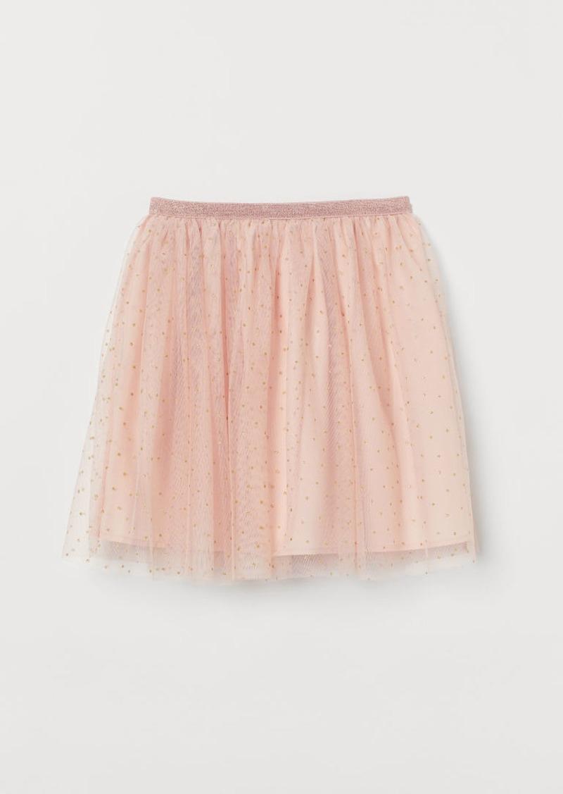 H&M H & M - Glittery Tulle Skirt - Orange