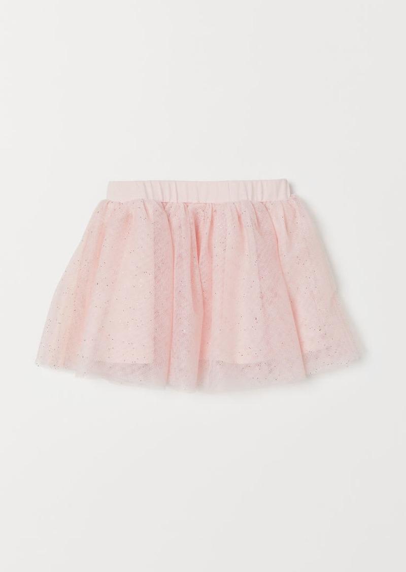 H&M H & M - Glittery Tulle Skirt - Pink