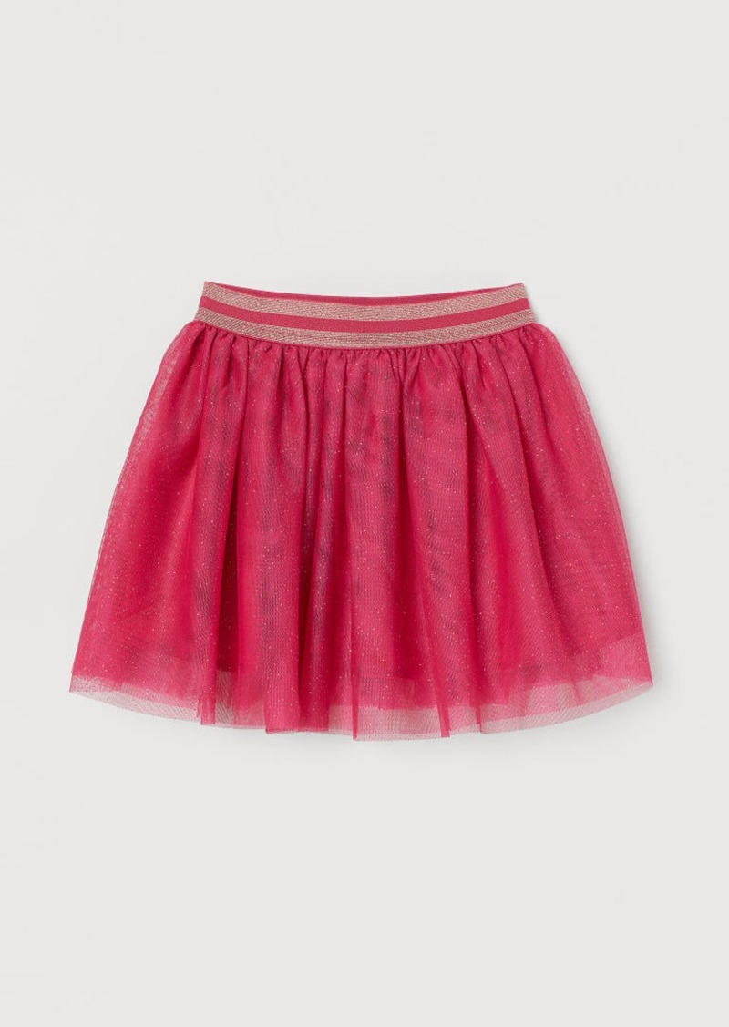 H&M H & M - Glittery Tulle Skirt - Pink