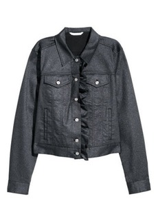 H&M H & M - Glittery Twill Jacket - Black