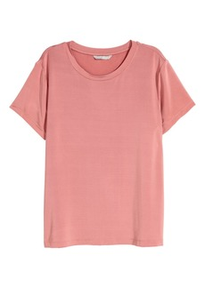 H&M H & M - Glossy Jersey Top - Pink