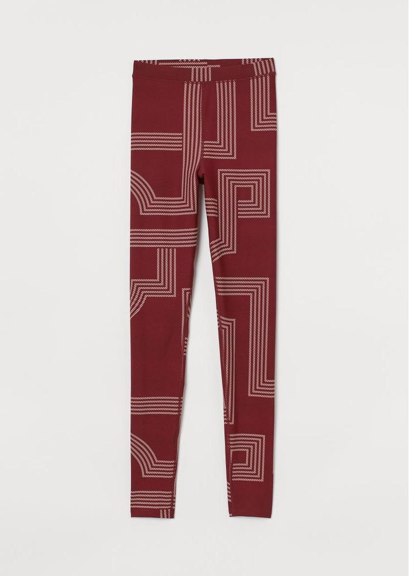 H&M H & M - Glossy Leggings - Red