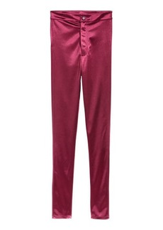 H&M H & M - Glossy Slim-fit Pants - Red