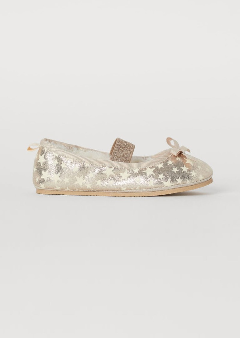 H&M H & M - Glow-in-the-dark Slippers - Gold