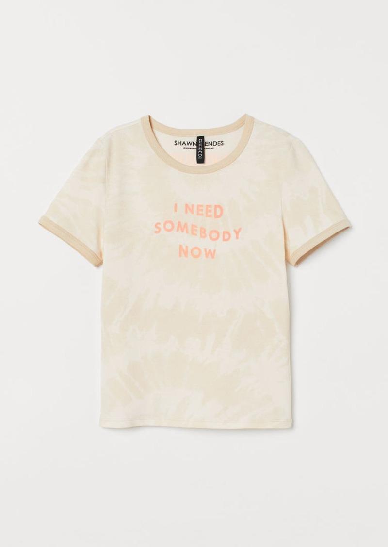 H&M H & M - Graphic T-shirt - White