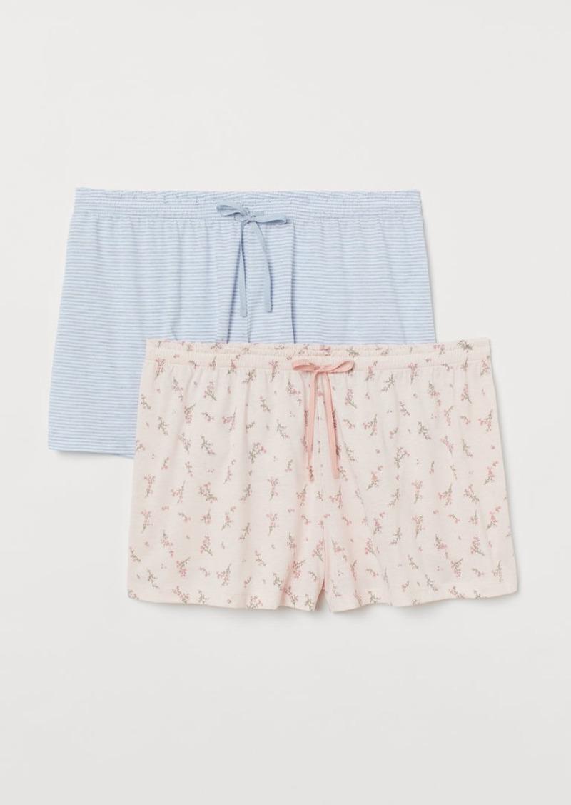 H&M H & M - H & M+ 2-pack Pajama Shorts - Pink
