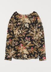 H&M H & M - H & M+ Batwing-sleeved Blouse - Black