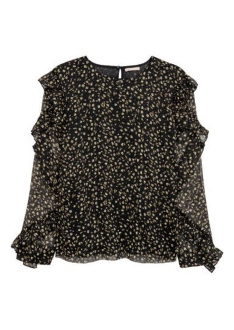 H&M H & M - H & M+ Blouse with Ruffle - Black