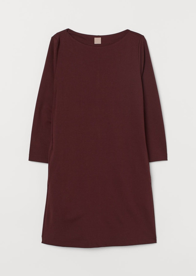 H&M H & M - H & M+ Boat-neck Jersey Dress - Red