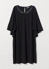 H&M H & M - H & M+ Butterfly-sleeved Dress - Black