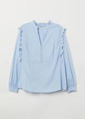 H&M H & M - H & M+ Cotton Blouse - Blue