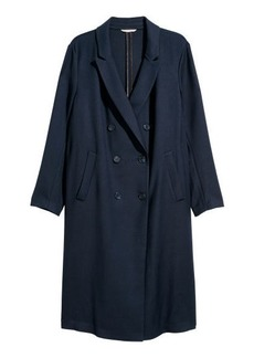 H&M H & M - H & M+ Double-breasted Coat - Blue