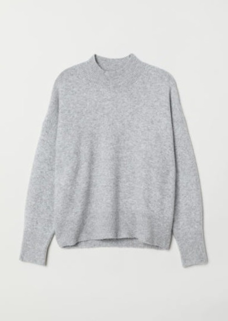 H&M H & M - H & M+ Fine-knit Sweater - Gray