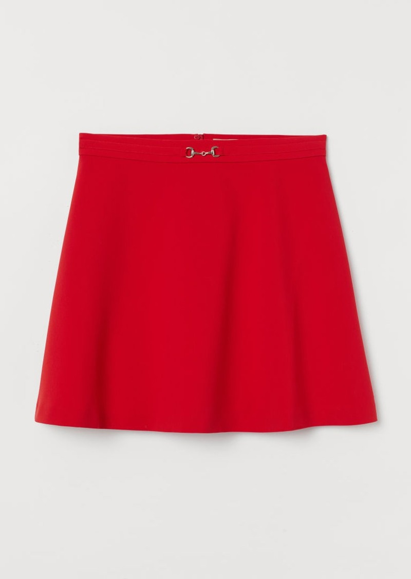 H&M H & M - H & M+ Flared Skirt - Red