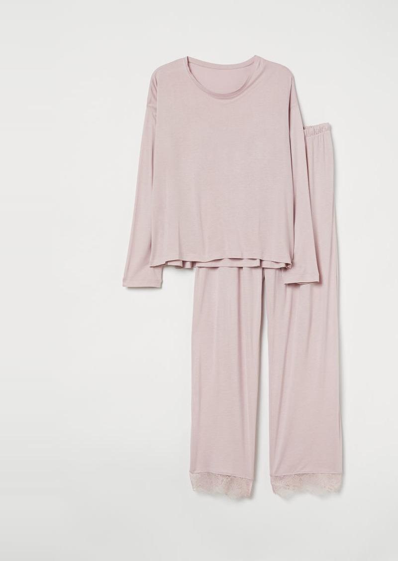 H&M H & M - H & M+ Jersey Pajamas - Pink