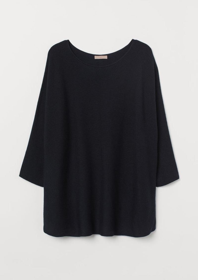 H&M H & M - H & M+ Knit Sweater - Blue