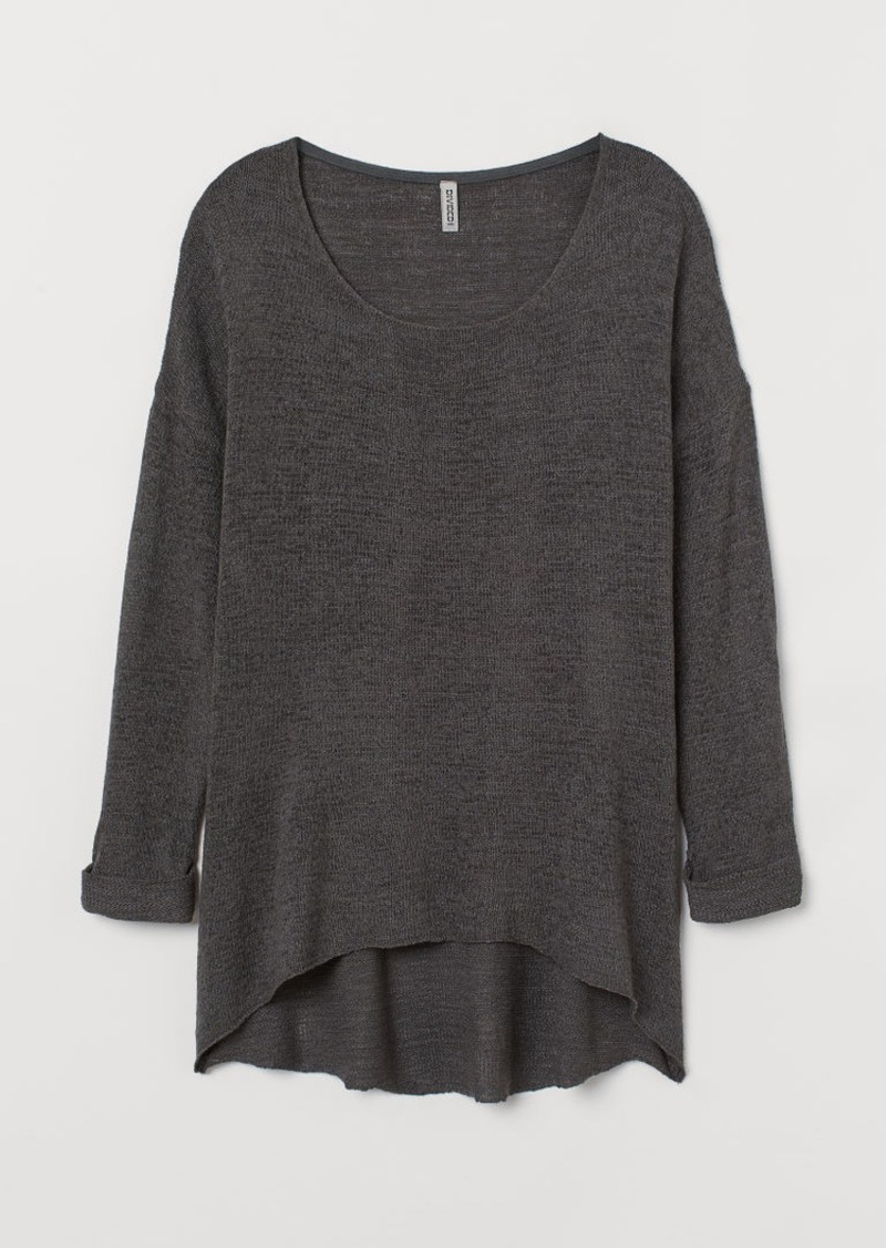 H&M H & M - H & M+ Loose-knit Sweater - Gray