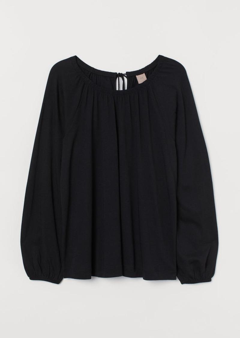 H&M H & M - H & M+ Modal-blend Blouse - Black