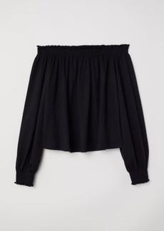 H&M H & M - H & M+ Off-the-shoulder Blouse - Black