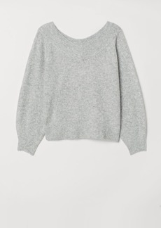 H&M H & M - H & M+ Off-the-shoulder Sweater - Gray