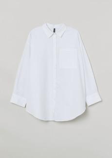 H&M H & M - H & M+ Oversized Shirt - White