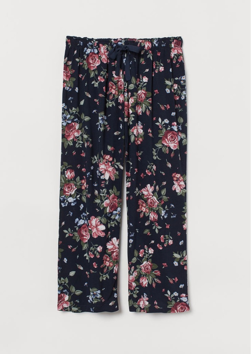 H&M H & M - H & M+ Patterned Pajama Pants - Blue
