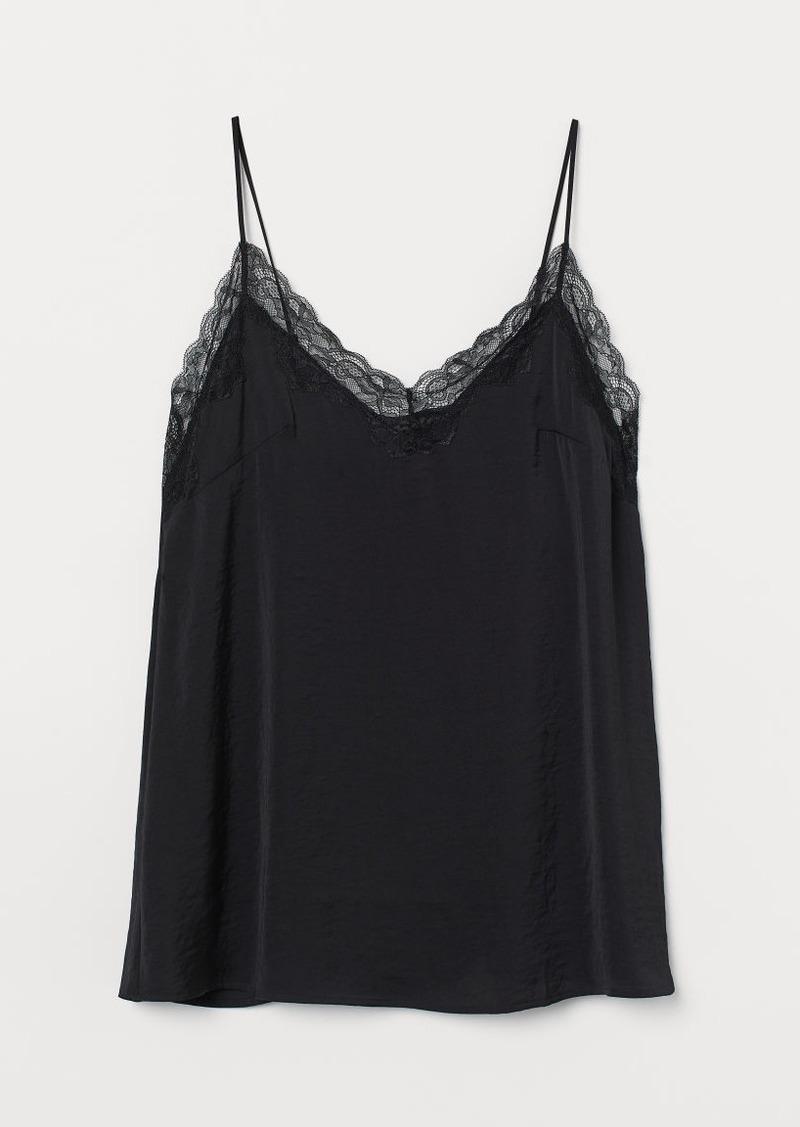 H&M H & M - H & M+ Satin Nightgown - Black