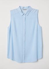 H&M H & M - H & M+ Sleeveless Blouse - Blue