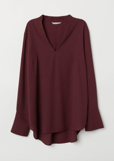 H&M H & M - H & M+ V-neck Blouse - Red