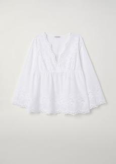 H&M H & M - H & M+ V-neck Blouse - White