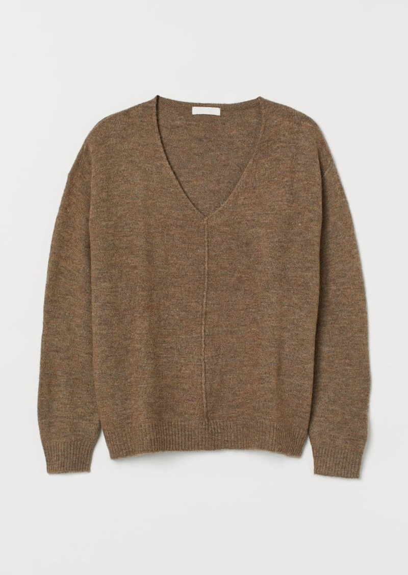 H&M H & M - H & M+ V-neck Sweater - Beige