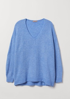H&M H & M - H & M+ V-neck Sweater - Blue