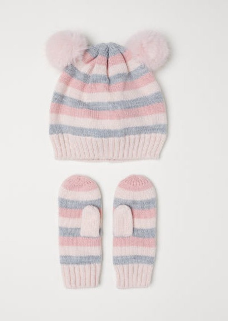 H&M H & M - Hat and Mittens - Gray