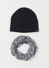 H&M H & M - Hat and Tube Scarf - Black