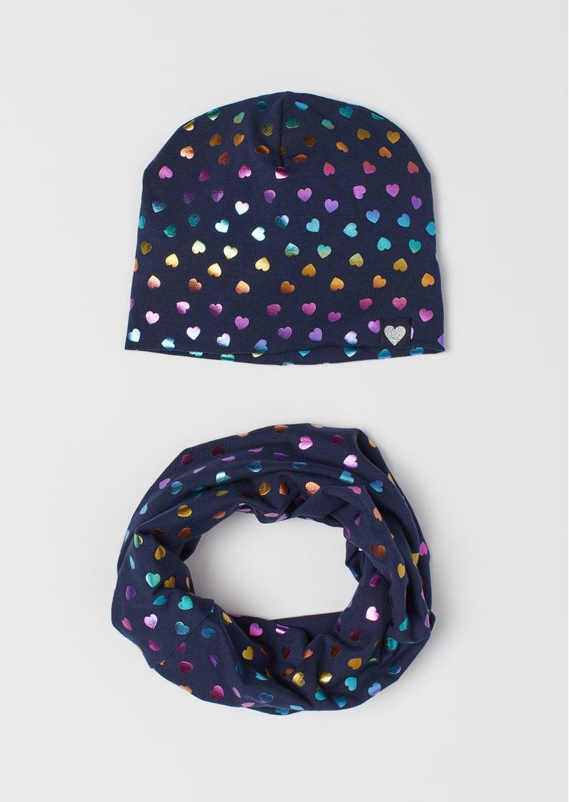 H&M H & M - Hat and Tube Scarf - Blue
