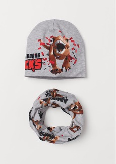 H&M H & M - Hat and Tube Scarf - Gray