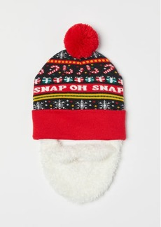 H&M H & M - Hat with Beard - Black