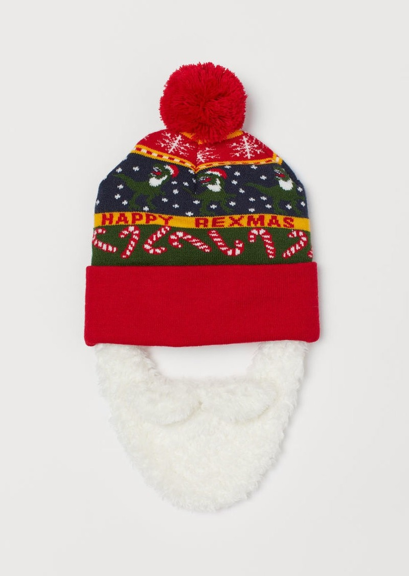 H&M H & M - Hat with Beard - Red