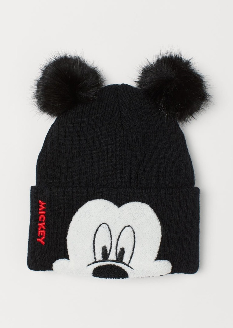 H&M H & M - Hat with Embroidery - Black
