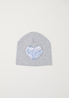 H&M H & M - Hat with Reversible Sequins - Gray